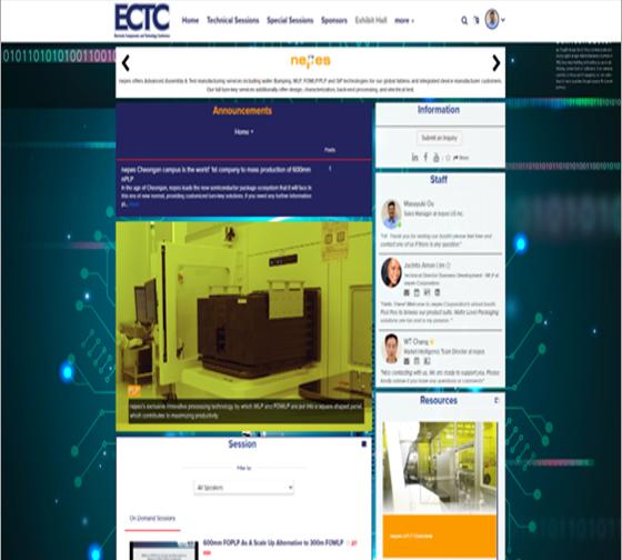 네패스, 2021 전자부품 및 기술 박람회(ECTC) 참여 이미지1